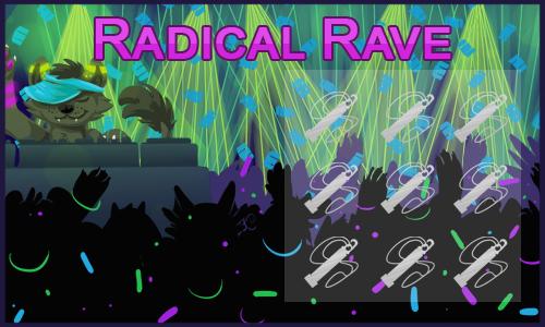 Radical Rave Scratchcard Enlarged