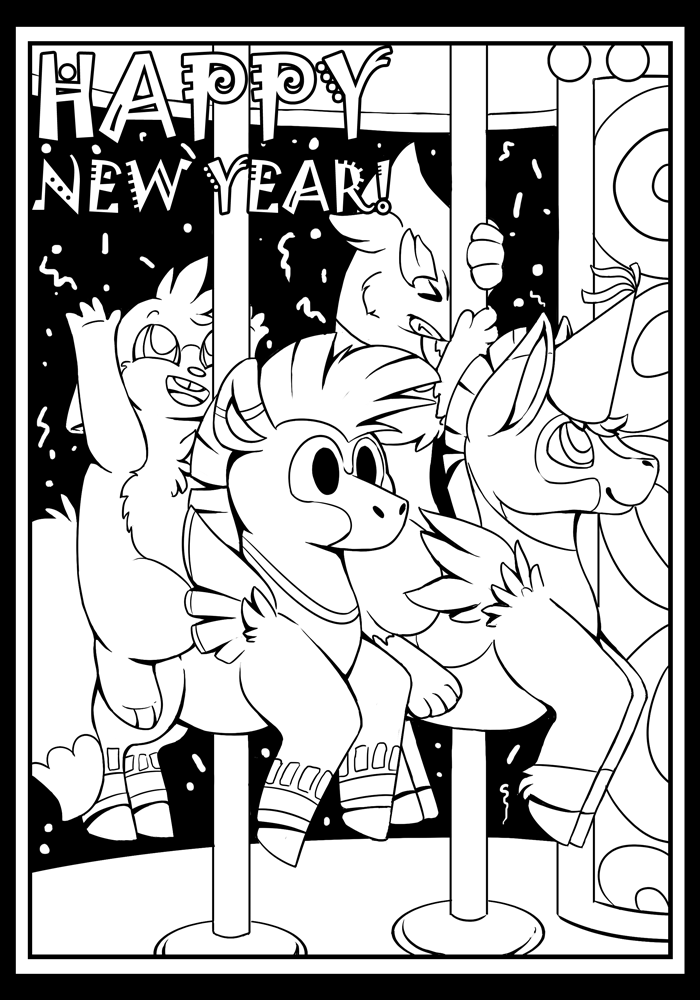New Years 2016 - Colouring Contest