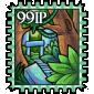 Red Snow Jar Stamp