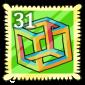 Optical Illusion Stamp