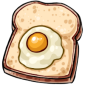 Slice of Bread with Egg