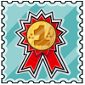 Golden Competitor Stamp