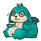 Turquoise Dabu Plushie
