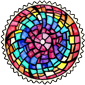 Rainbow Stained Glass Stamp