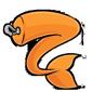 Orange Clip-On Sharshel Tail