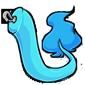 Clip-On Blue Makoat Tail