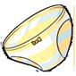 Yellow Striped Panties