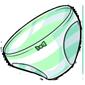Green Striped Panties
