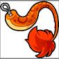 Clip-On Orange Ridix Tail