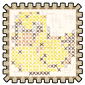 Cross Stitched Stamp