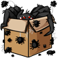 Spider-Filled Cardboard Box