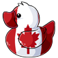 Canadian Flag Ducky