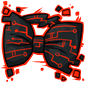 Red Tech Bow Tie