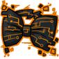 Orange Tech Bow Tie