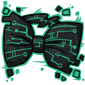 Teal Tech Bow Tie