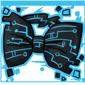 Blue Tech Bow Tie