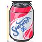 Raspberry Snow Soda