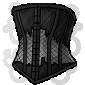 Black Lace Corset