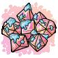 Marble Dice Set