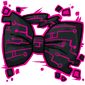 Pink Tech Bow Tie