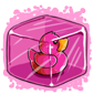 Pink Ducky Ice Cube