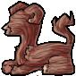 Monster-Shaped Log