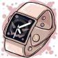 Rose Gold Dark Apple Watch