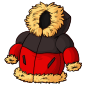 Red Puffy Winter Jacket