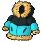 Blue Puffy Winter Jacket