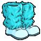 Blue Fluffy Winter Boots