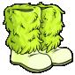 Green Fluffy Winter Boots