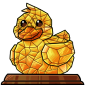 Crystal Ducky Figurine