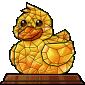 Crystal Ducky Figurine