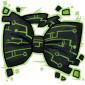 Pear Green Tech Bow Tie
