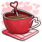 Red Heart Mug Drink