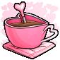 Pink Heart Mug Drink