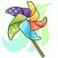 Colourful Pinwheel