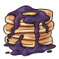 Pancakes with Blueberry Marmalade