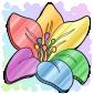 Pastel Flower Coin