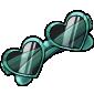 Turquoise Heart Sunglasses