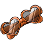 Orange Heart Sunglasses