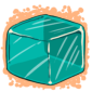 Turquoise Ice Cube