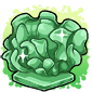 Green Coral Ice Cube