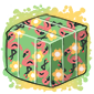Flamingo Duct Tape Ice Cube