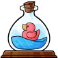 Ducky in a Bottle Figurine