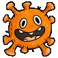Orange Microbe Plushie