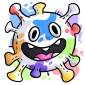 Rainbow Microbe Plushie