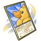 Yellow Ducky Trading Card