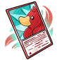 Red Ducky Trading Card