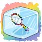 Rainbow Hand Mirror Ice Cube